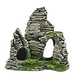 Gazechimp Artificial Montaña de Piedra Resina Adorno Hogar Tanque de Peces Regalo