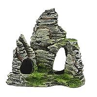樹脂製 無害 人工 山 石 隠れ 洞窟 水族館 タンク 装飾