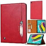 AHUOZ Funda para tablet PC Samsung Galaxy Tab S5e SM-T720/T725 con función atril plegable con función de encendido y apagado automático para iPad 12.9, color rojo