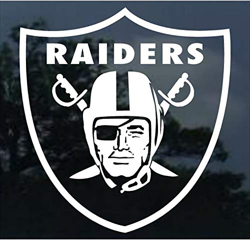 Yilooom Oakland Raiders - Die Cut Vinyl Car Decal Sticker Bumper Window Sticker 2 Pack 8 Inches at Longest End