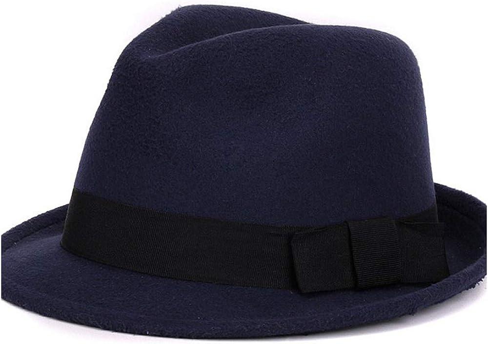 CNBEAU Men Women's Classic Wool Blend Structured Fedora Hat Trilby Felt Church Jazz