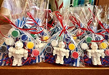 12 PARTY FAVORS TRANSFORMER Boys 2,3,4,5 years old birthday Party to paint DIY Class school Price per 12 bags.Creative developmental educational.