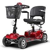 L.HPT Mini 4 Ruote Scooter Elettrico Intelligente Sedia a rotelle elettrica 3 Sedile Rotante Pieghevole Adatto...