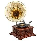 aubaho Nostalgia gramófono gramófono Discos de gramófono Embudo Antiqued (c)