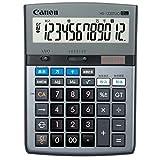 キャノン 電卓 12桁 卓上サイズ 時間計算 千万単位機能 HS-1220TUG グレー