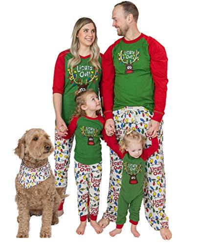 Lazy One Christmas Pajama Set, Matching Family Pajamas for Adults, Kids, Infants, and Dog