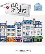 Rues de Paris au point de croix d'Anne Sohier - Fournel