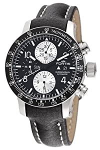 Fortis Men's 665.10.11L B-42 Stratoliner Automatic Chronograph Black Dial Watch image
