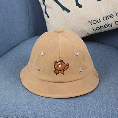 wtnhz Artículos de Moda Sombrero de Pescador de bebé de algodón Sombrero de Olla de Pata de Oso de Dibujos Animados Lindo Coreano Sombrero de bebéRegalo de Vacaciones