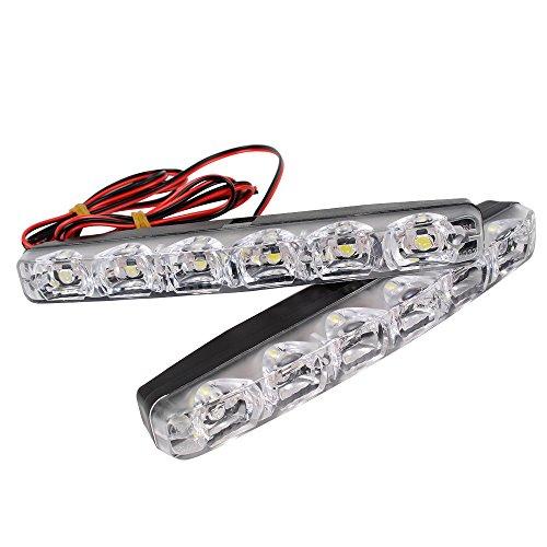 HEHEMM 2 Stück Auto-Tagfahrlicht, LED, DRL 6