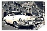 Postereck - Poster 0462 - Oldtimer in Kuba Auto Schwarz
