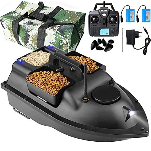 ZHDLJ Barco Cebador para Pesca, Barco de Pesca Teledirigido Buscador de Peces Barco de Cebo Portátil con Control Remoto Inalámbrico GPS de 2,4 GHz, Crucero de Posicionamiento de 500 M, Barco RC