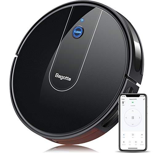 Bagotte Robot Aspirapolvere WiFi/App/Alexa Adatto a Pavimenti e Tappeti, 55DB Silenzioso,Ottimo per i Peli degli Animali Domestici