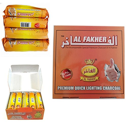 Dics anthrazit AL-Fakher Quick Lighting Shisha Wasserpfeife Rolle Kohle Disc Briquet für Shisha Khalil mamoon