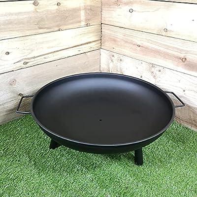 "Samuel ALEXANDER 59cm / 23"" Round Metal Fire Pit Basket Garden Patio Wood Solid Fuel Burner by"