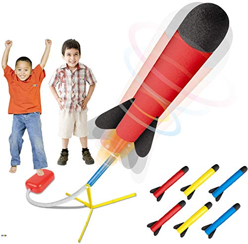 Image of the Play22 Toy Rocket Launcher - Jump Rocket Set Includes 6 Rockets - Play Rocket Soars Up to 100 Feet - Missile Launcher Best Gift for Boys and Girls - Air Rocket Great for Outdoor Play - Original