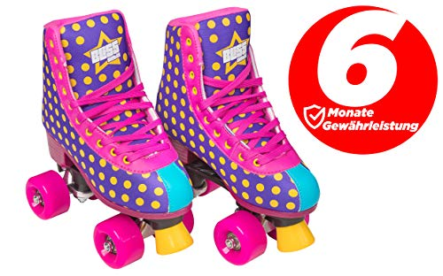 Bliss Roller Chica Patines de mujer – Indoor Outdoor Roller Patines Tamaño 31 – 42 rollschuh Rock Star Edition, morado, 36