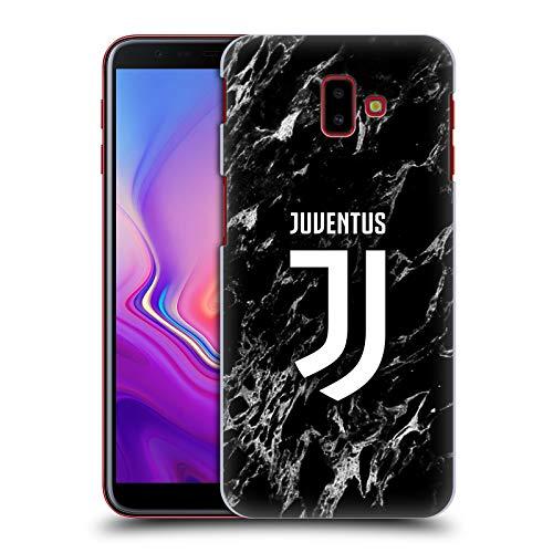 Head Case Designs sous Licence Officielle Juventus Football Club Noir Marbre Coque Dure pour l'arrière Compatible avec Samsung Galaxy J6 Plus (2018)