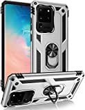 Galaxy S20 Ultra Case,ZADORN 15ft Drop Tested,Military Grade Heavy Duty Protective Cover with Hard PC and Soft Silicone,Kickstand Phone Case for Samsung Galaxy S20 Ultra 6.9' 2020 Silver