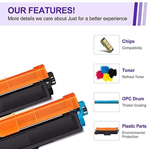 Manyjets TN247 TN243 Cartuchos de tóner Compatible para Brother TN-247 TN-243 para HL-L3210CW HL-L3230CDW HL-L3270CDW MFC-L3710CW MFC-L3730CDN MFC-L3750CDW MFC-L3770CDW DCP-L3510CDW