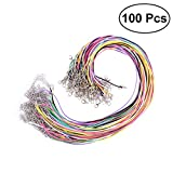 ULTNICE 100Pcs Waxed cadena cera cordón collar con el corchete langosta para joyería que hace color mezcla 1.5mm