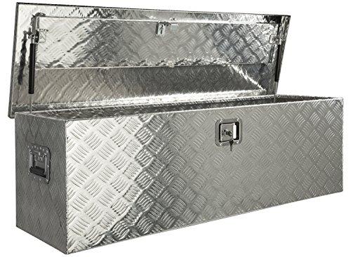 Aluminium Werkzeug Metallbox Alubox Alukiste Werkzeugkiste Werkzeugkasten Metallkiste Box Blechkiste ca.180 L Truckbox