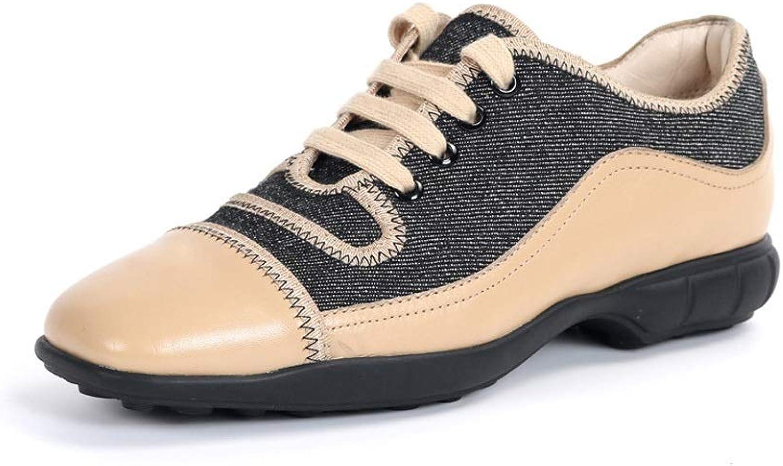 Ailjfbx Ailj Segeltuchschuhe, Frau Frühling Und Herbst Einzelne Schuhe Segeltuch Retro Spitze Design Sportschuhe (2 Farben) (Farbe   Beige, gre   EU 35 US 4 UK 3 JP 22.5cm)