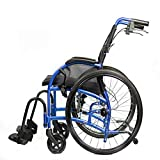 """Strongback Mobility 24"""" Wheels Lightweight Foldable Wheelchair, Built-in Adjustable Lumbar Support, Promotes a Healthy Spine, 20 Inch Seat with Attendant Brake 2.0"""