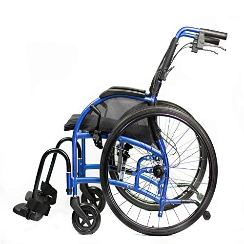 "Strongback Mobility 24"" Wheels Lightweight Foldable Wheelchair, Built-in Adjustable Lumbar Support, Promotes a Healthy Spine, 20 Inch Seat with Attendant Brake 2.0"
