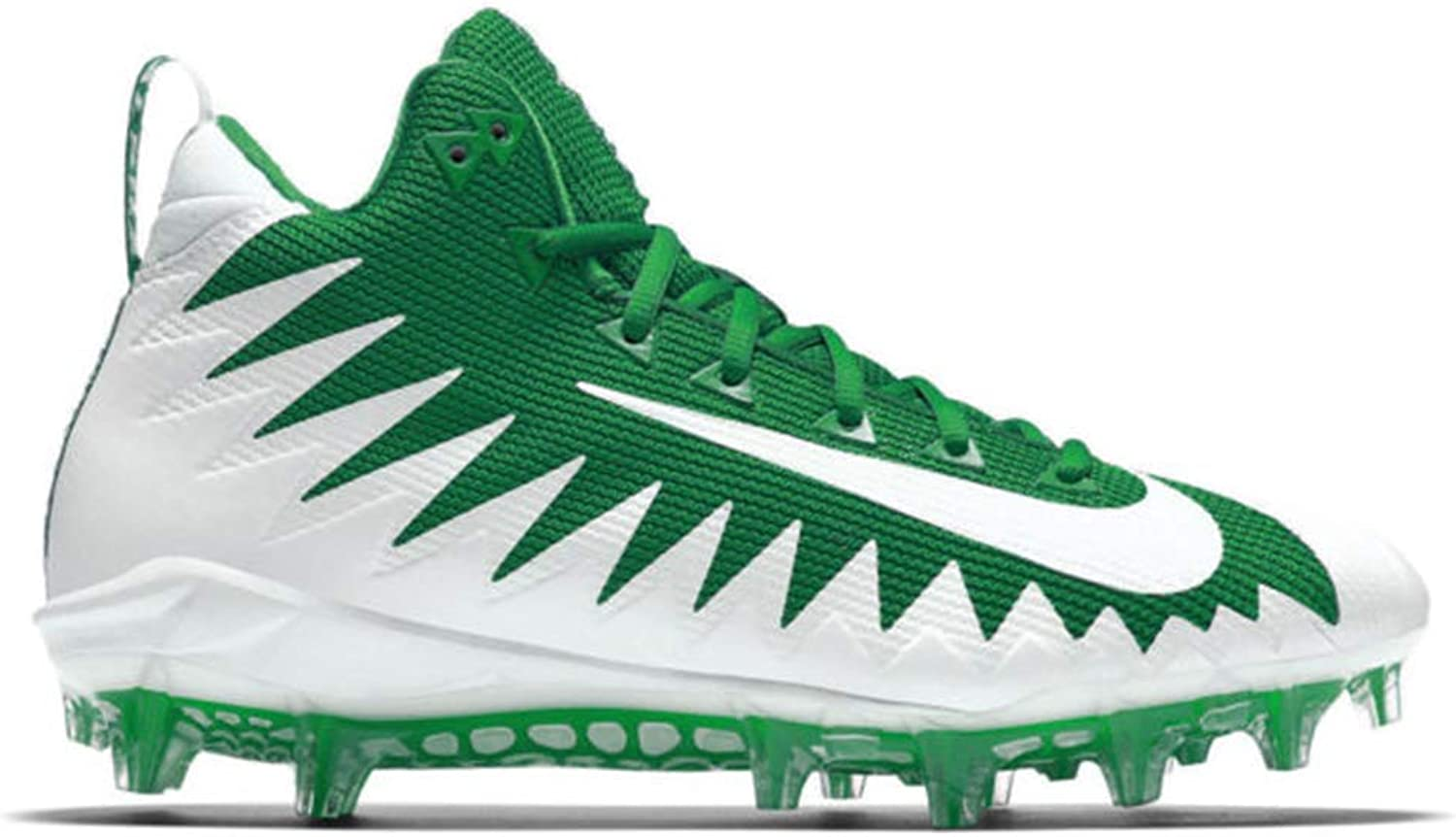 Nike Mens Alpha Menace Pro Mid Football Cleats-Team Green White-White-12