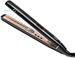 ヘアアイロン ストレート カール 両用 ダブルマイナスイオン 100-230℃ 温度調節 LCDディスプレイ 自動OFF 海外対応 プロ仕様 (ブラック)