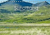 Schottland - grandiose Landschaften im Westen (Tischkalender 2022 DIN A5 quer): Wunderbare Highlands und Hebriden-Inseln (Monatskalender, 14 Seiten )