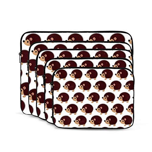 QUEMIN Bolsa antiestática de Hombro para computadora portátil y Tableta para Estudiantes Unisex Trabajadores Cute Hedgehog-10 Pulgadas