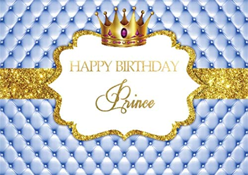 Fondo de fotografía de Princesa Rosa Corona Dorada Cartel de Fiesta de Feliz cumpleaños Retrato Foto de Fondo Estudio fotográfico A34 10x10ft / 3x3m