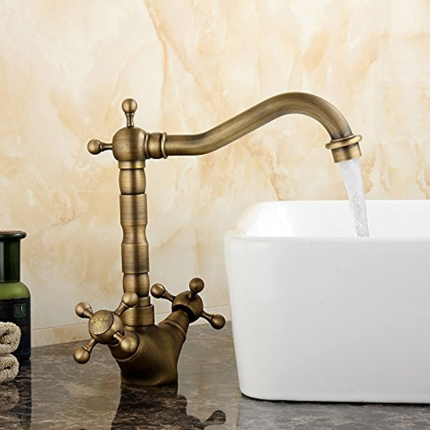 Hlluya Professional Sink Mixer Tap Kitchen Faucet All copper antique antique table basin basin Faucet