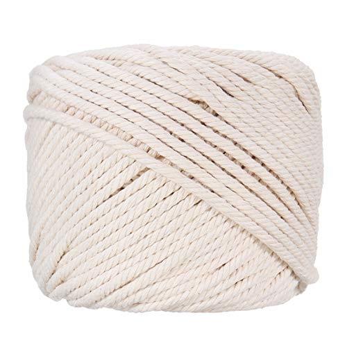 Fil à la main Naturel beige en dentelle coton et lin paire de corde de corde de corde de jardin bricolage de jardin à domicile Accessoires textile artisanat 4mmx100m Accueil Décoration produits menage