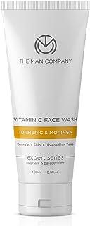 The Man Company Skin Brightening Vitamin C Face Wash with Turmeric and Moringa | Paraben & SLS Free - 100ml