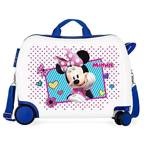 Disney Enjoy Minnie Icon Valigia per bambini Azzurro 50x38x20 cms Rigida ABS Chiusura a combinazione numerica 34L 2,3Kgs 4 Ruote Bagaglio a mano