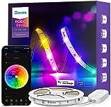Govee RGBIC Ruban LED 5m, Bande LED WiFi Bluetooth Multicolore, Contrôlé par APP et Contrôle Segmenté Intelligente Sélection des Couleurs, Sync avec Rythme de Musique pour Maison Chambre Fête Cuisine