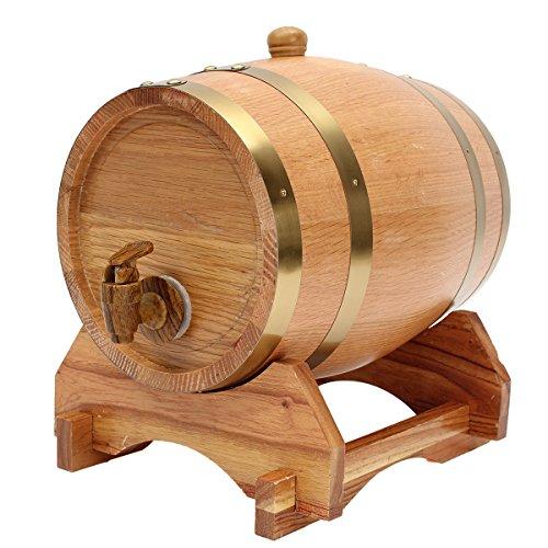 Totoy 5L Houten Vat met Spigot voor Whisky Wijndrank Homebrew