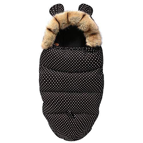 Saco de dormir para bebé, saco de dormir, envoltura para cochecito, manta gruesa y cálida para cochecitos, colcha súper suave y cálida para bebés, a prueba de patadas, reduce la respuesta de sobresalt