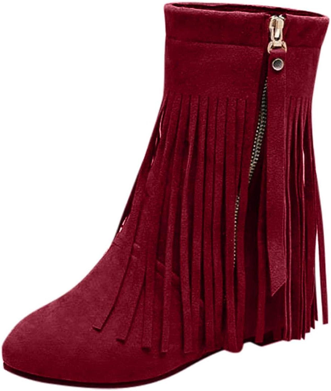 UOCUFY Women's Austin Mall Cowboy Boots Fashion Cowgirl Platform Tassel sale Ankl