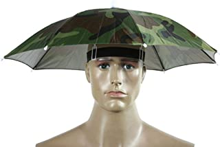 Fishing Camping Umbrella Hat, Sttech1 Foldable Novelty Hand Free Umbrella Sun Hat Golf Fishing Camping Fancy Dress Multicolor (Camouflage)