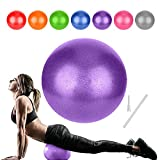 Small Pilates Ball, Therapy Ball, Mini Workout Ball, Core Ball, 9 Inch Small Exercise Ball, Mini Bender Ball, Pilates, Yoga, Workout, Bender, Core Training and Physical Therapy, Improves Balance