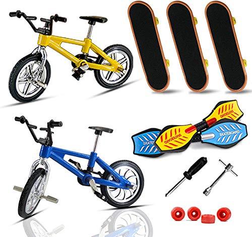 JPYH Mini Juguetes de Dedos Patinetas de Bicicletas de Dedo