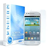 EAZY CASE 9X Bildschirmschutzfolie kompatibel mit Samsung Galaxy S3 Mini, nur 0,05 mm dick I Bildschirmschutz, Schutzfolie, Bildschirmfolie, Transparent/Kristallklar