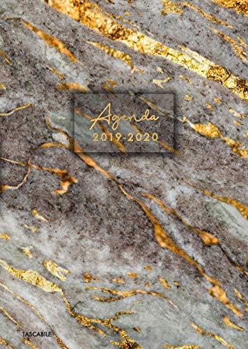 Agenda 2019 2020 tascabile: Calendario e Agenda settimanale 2019 - 2020, giornaliera, 15x21 cm, design marmo, estetica e funzionalità