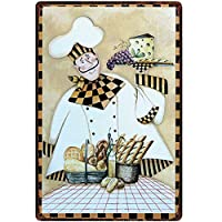 オリジナルレトロデザインシニアペストリーシェフティンメタルサインウォールアート、厚いブリキプリントポスターウォールデコレーションキッチン