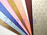 KIDSTAB Ziggle A4 Size Thick Beautiful Pattern Design Printed Papers for Art n Craft Greeting Card Envelope Scrapbook - Pack of 20