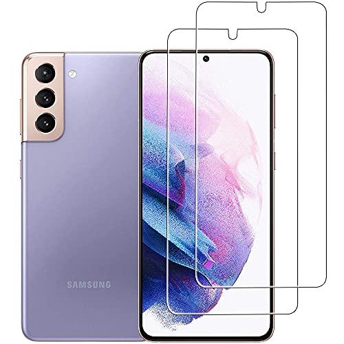 Beetop 2 protectores de pantalla compatibles con Samsung Galaxy S21 Plus 5G, compatible con sensor de huellas dactilares, vidrio templado de dureza 9H, para Samsung Galaxy S21 + Plus 5G